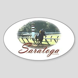 Saratoga Stretch Oval Sticker