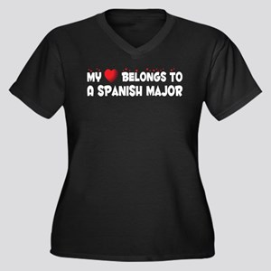 Belongs To A Spanish Major Women's Plus Size V-Nec