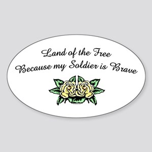 Land of the Free - US Army Oval Sticker