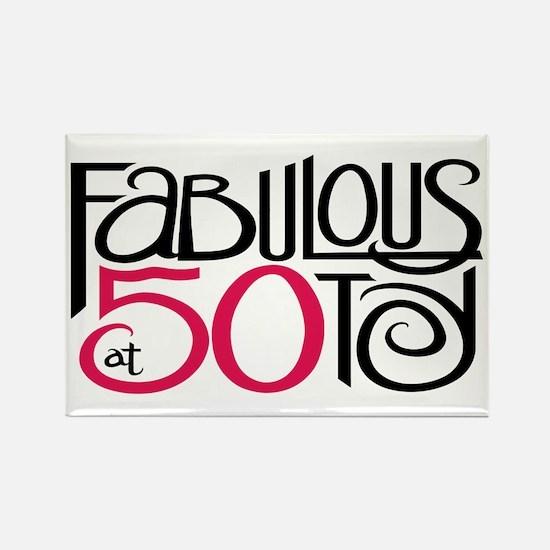 Fabulous at 50! Rectangle Magnet