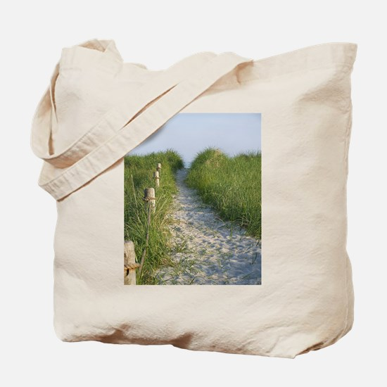 New England Coastal Dune Path Tote Bag
