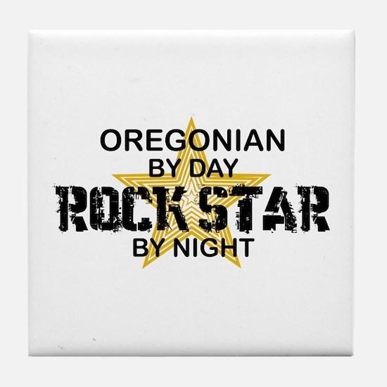 Oregonian Rock Star Tile Coaster