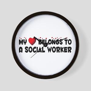 Belongs To A Social Worker Wall Clock