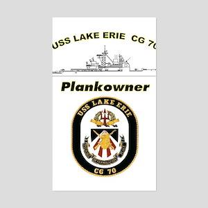 CG 70 Plankowner Crest Rectangle Sticker