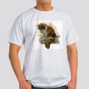 Window Calico Cat Ash Grey T-Shirt