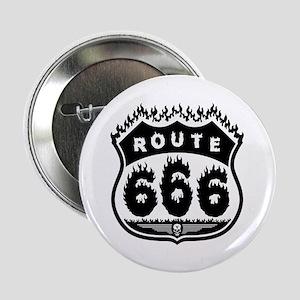 "Burning Rte 666 2.25"" Button"