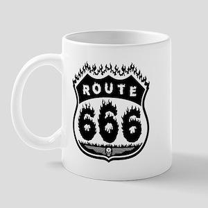 Burning Rte 666 Mug
