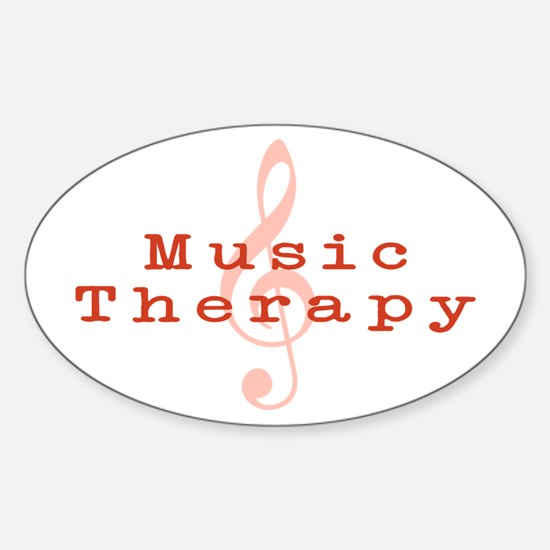 Music Therapy Oval Decal