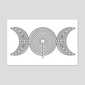 Moon Labyrinth Mini Poster Print