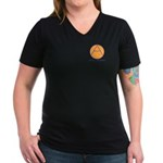 Civil Defence Women's V-Neck Dark T-Shirt