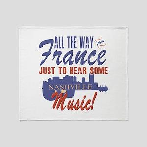 Hear Nashville Music from France Throw Blanket