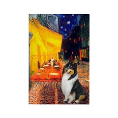 Cafe / Collie (tri) Rectangle Magnet (10 pack)