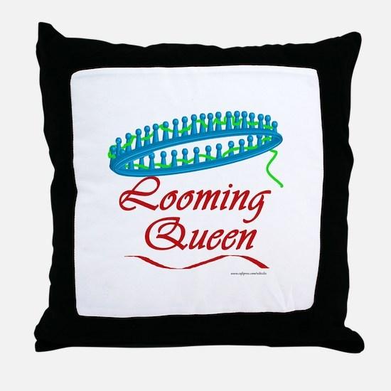 Looming Queen Throw Pillow