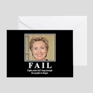 Hillary FAIL Greeting Card