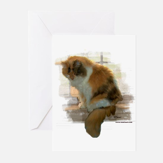 Window Calico Cat Greeting Cards (Pk of 10)