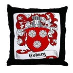 Coburg Family Crest Throw Pillow