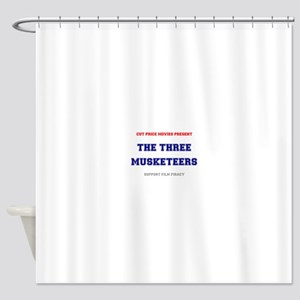 CUT PRICE MOVIES - THE THREE MUSKET Shower Curtain