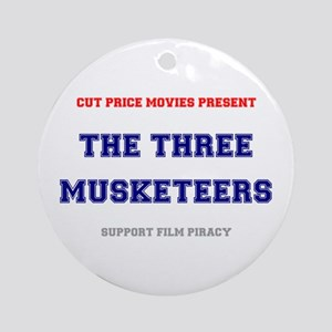 CUT PRICE MOVIES - THE THREE MUSKET Round Ornament