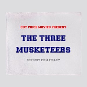 CUT PRICE MOVIES - THE THREE MUSKETE Throw Blanket