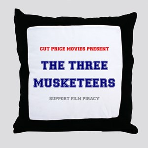 CUT PRICE MOVIES - THE THREE MUSKETEE Throw Pillow
