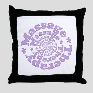 Purple Massage Throw Pillow
