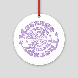 Purple Massage Ornament (Round)