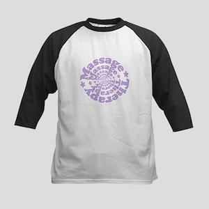 Purple Massage Kids Baseball Jersey