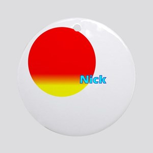 Nick Ornament (Round)