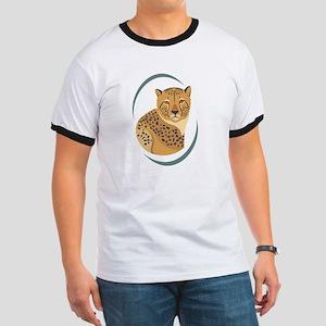 Wild Cheetah Ringer T
