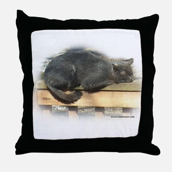 Jonesy Sleeping Throw Pillow