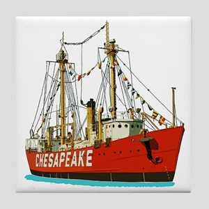 The Lightship Chesapeake Tile Coaster