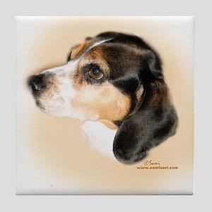 Pixley the Beagle Tile Coaster