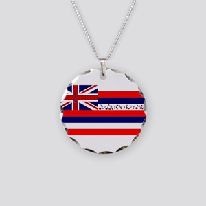 Flag of Hawaii Necklace Circle Charm
