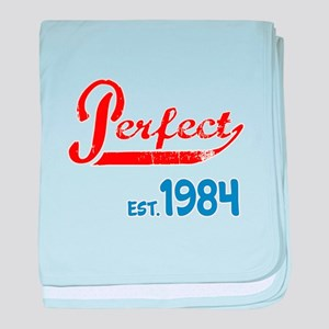 Perfect, Est 1984 baby blanket