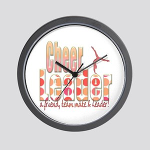 Polka Dot Cheerleader Wall Clock