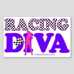 Racing Diva Y/G Rectangle Sticker