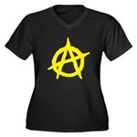 Anarchist Women's Plus Size V-Neck Dark T-Shirt