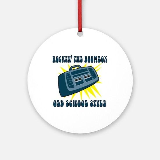 Rockin' The Boombox Ornament (Round)