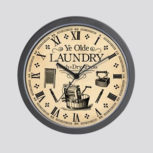 Ye Olde Laundry Wall Clock