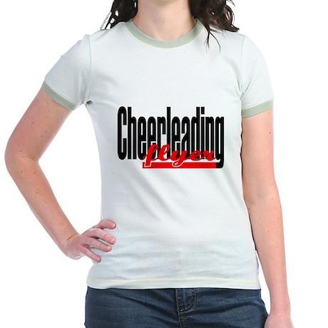 (Red) Cheerleading Flyer Jr. Ringer T-Shirt