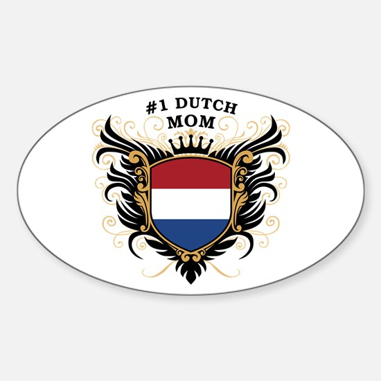 Number One Dutch Mom Oval Decal