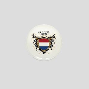 Number One Dutch Mom Mini Button