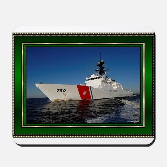 us coast guard dk green Mousepad