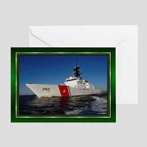 us coast guard dk green Greeting Card