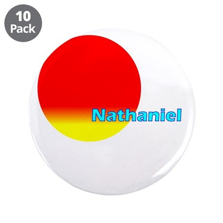 "Nathaniel 3.5"" Button (10 pack)"