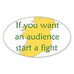 Fightin' Proverb Oval Sticker