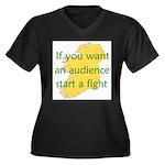 Fightin' Proverb Women's Plus Size V-Neck Dark T-S