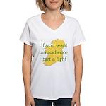 Fightin' Proverb Women's V-Neck T-Shirt