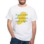Fightin' Proverb White T-Shirt