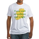 Fightin' Proverb Fitted T-Shirt